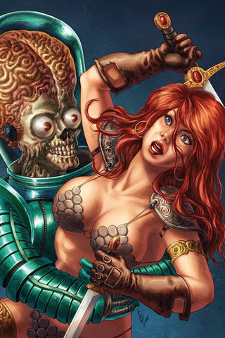 MARS ATTACKS RED SONJA #1 QUAH VIRGIN INCV