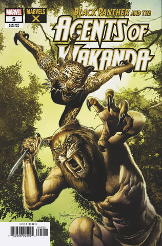 BLACK PANTHER AND AGENTS OF WAKANDA #5 SUAYAN MARVELS X VAR