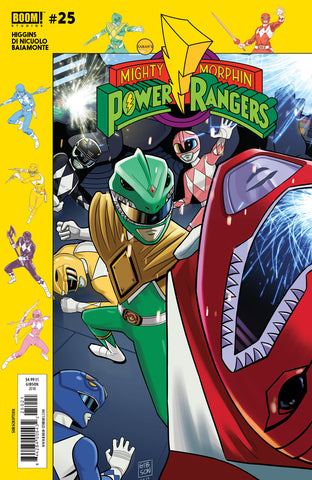 MIGHTY MORPHIN POWER RANGERS #25 SUBSCRIPTION GIBSON VAR