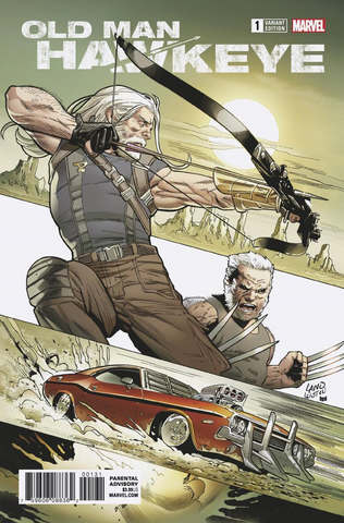 OLD MAN HAWKEYE #1 (OF 12) LAND VAR LEG