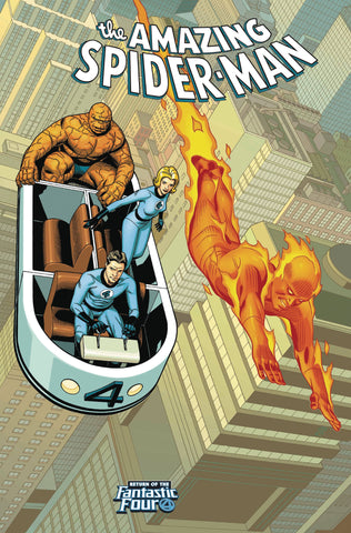 AMAZING SPIDER-MAN #4 SPROUSE RETURN OF FANTASTIC FOUR VAR