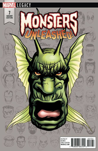 MONSTERS UNLEASHED #7 MCKONE LEGACY HEADSHOT VAR LEG