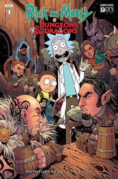 RICK & MORTY VS DUNGEONS & DRAGONS #1 (OF 4) 25 COPY INCV FO