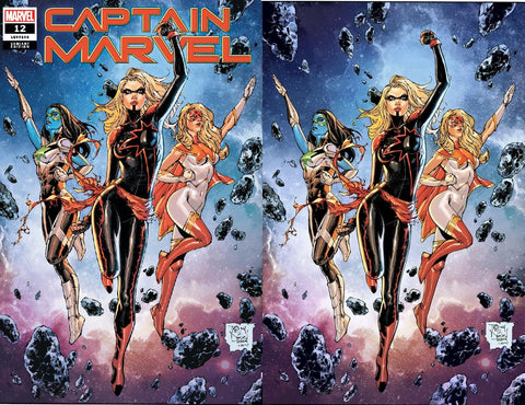 CAPTAIN MARVEL #12 TONY DANIEL COMICXPOSURE 2 PACK EXCLUSIVE