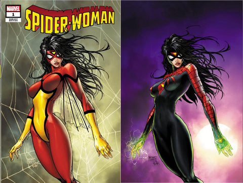 SPIDER-WOMAN #1 MICHAEL TURNER 2 PACK EXCLUSIVE