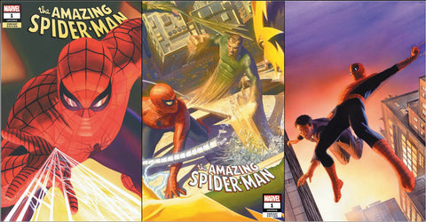 AMAZING SPIDER-MAN #1 ALEX ROSS 3 PACK EXCLUSIVE