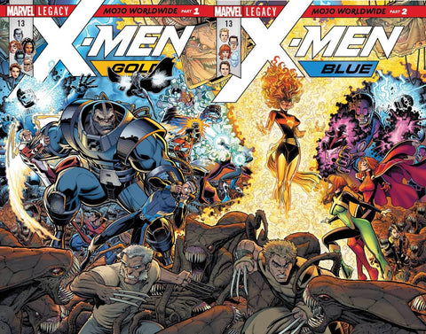 X-MEN BLUE #13 LEG / X-MEN GOLD #13 LEG CONNECTING COVERS