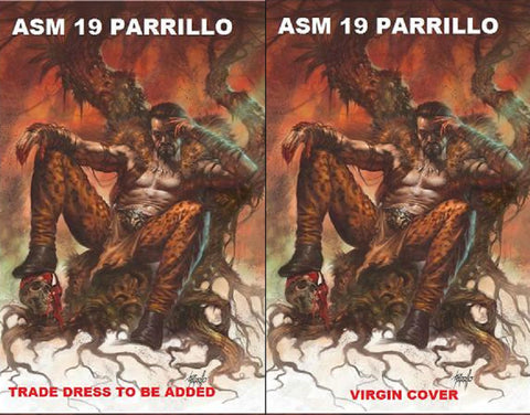 AMAZING SPIDER-MAN #19 COMICXPOSURE LUCIO PARRILLO 2 PACK VIRGIN