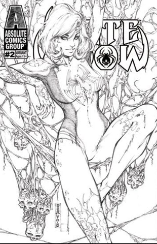 WHITE WIDOW #2 MIKE DEBALFO COLORING BOOK EXCLUSIVE