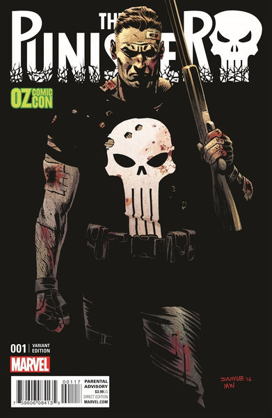 PUNISHER #1 CHRIS SAMNEE OZ COMIC CON VARIANT