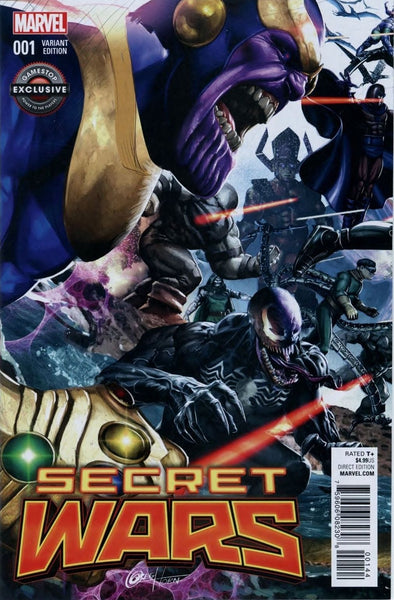SECRET WARS #1 GAMESTOP GREG HORN VILLAINS EXCLUSIVE VARIANT