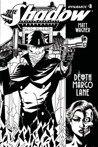 SHADOW DEATH OF MARGO LANE #3 B&W SKETCH VARIANT