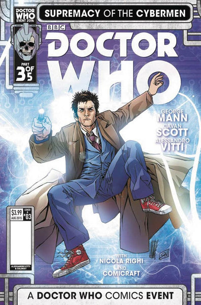DOCTOR WHO SUPREMACY OF THE CYBERMEN #3 COVER A VITTI 1st PRINT