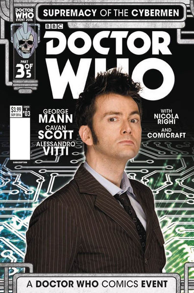 DOCTOR WHO SUPREMACY OF THE CYBERMEN #3 COVER B PHOTO VARIANT