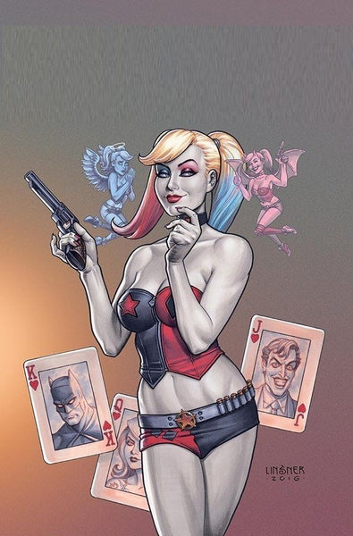 HARLEY QUINN VOL 3 #1 COMIC KINGS JOE LINSNER COLOR VARIANT