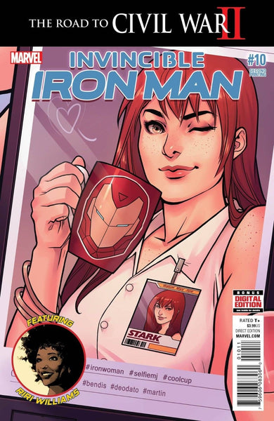 INVINCIBLE IRON MAN #10 2nd PRINT VARIANT