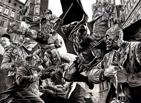 ALL STAR BATMAN #1 4th WORLD LEE BERMEJO SKETCH B&W VARIANT