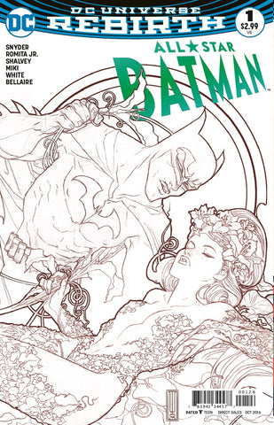 ALL STAR BATMAN #1 FRIED PIE BEN CALDWELL B&W SKETCH VARIANT