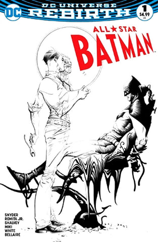 ALL STAR BATMAN #1 DYNAMIC FORCES DF JAE LEE SKETCH B&W VARIANT