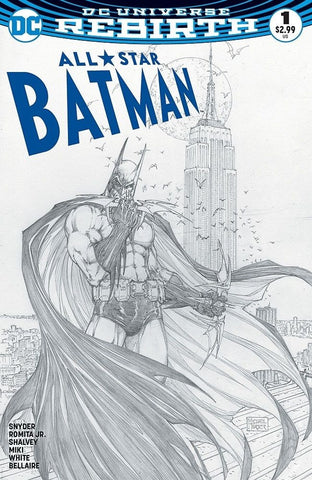 ALL STAR BATMAN #1 ASPEN MICHAEL TURNER SKETCH B&W VARIANT