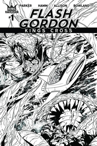 FLASH GORDON KINGS CROSS #1 COVER VARIANT E LAMING B&W SKETCH
