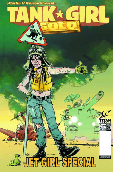 TANK GIRL GOLD #3 OF 4 COVER B BOND VARIANT