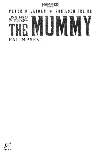 MUMMY #1 OF 5 COVER F BLANK FOR SKETCH VARIANT