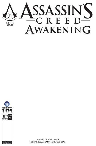 ASSASSINS CREED AWAKENING #1 (OF 6) COVER F BLANK SKETCH VARIANT