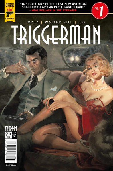 HARD CASE CRIME TRIGGERMAN #1 NYCC CONVENTION EXCLUSIVE VARIANT