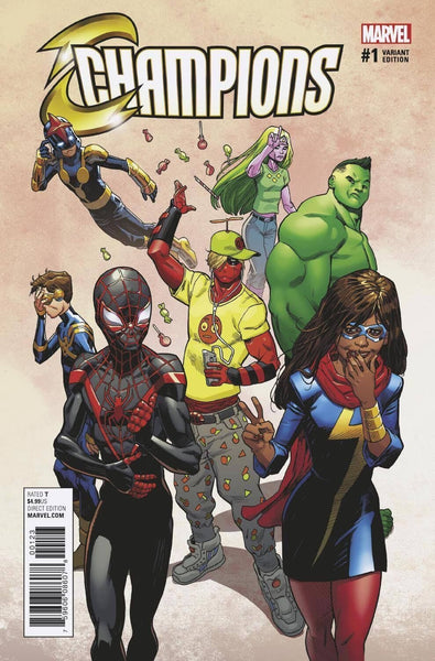 CHAMPIONS VOL 2 #1 1:1000 MIKE HAWTHORNE DEADPOOL VARIANT
