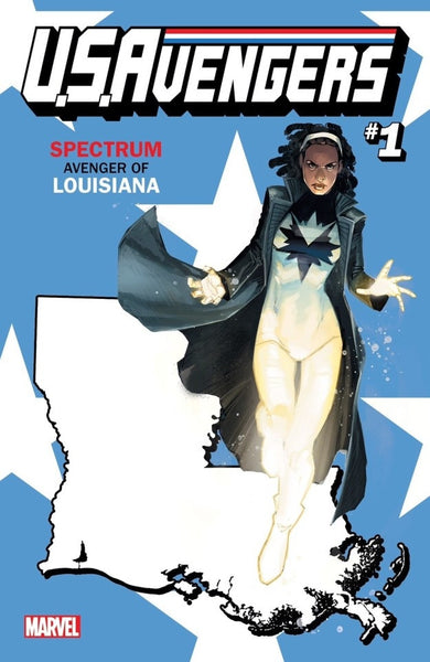 US AVENGERS #1 COVER Y LOUISIANA STATE VARIANT