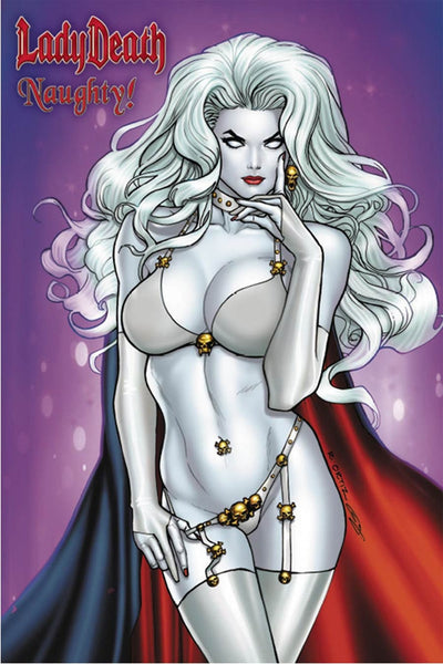 LADY DEATH NAUGHTY LTD ED ARTBOOK PULIDO SIGNED WITH PRINT HC