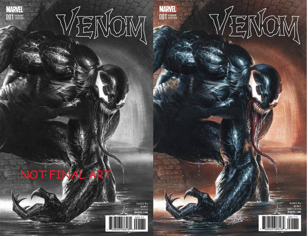 VENOM VOL 3 #1 GABRIELLE DELL OTTO COLOR B&W 2 PACK VARIANT SET