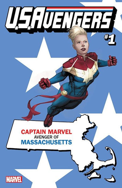 US AVENGERS #1 COVER Z-B MASSACHUSETTS STATE VARIANT
