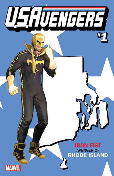 US AVENGERS #1 COVER Z-U RHODE ISLAND STATE VARIANT