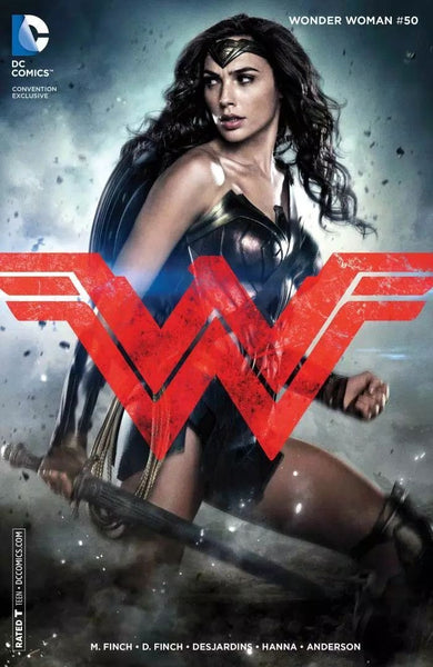 WONDER WOMAN #50 WONDERCON 2016 MOVIE PHOTO COVER VARIANT