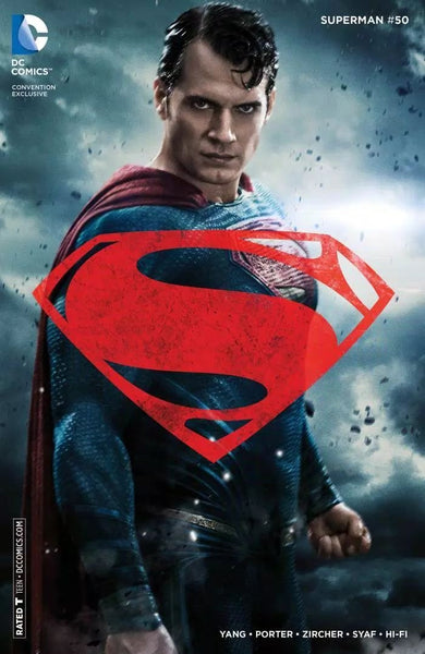 SUPERMAN #50 WONDERCON 2016 MOVIE PHOTO COVER VARIANT