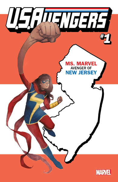 US AVENGERS #1 COVER Z-K NEW JERSEY STATE VARIANT