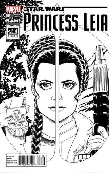 STAR WARS PRINCESS LEIA #1 BAM B&W VARIANT