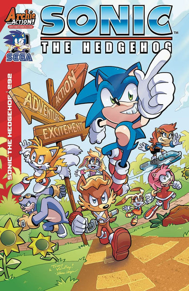 SONIC THE HEDGEHOG #292 COVER A MAIN