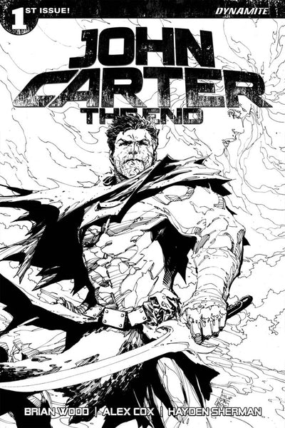 JOHN CARTER THE END #1 CVR I PHILIP TAN B&W SKETCH VARIANT
