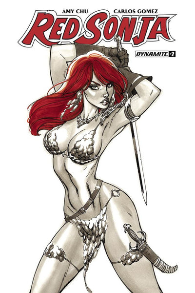 RED SONJA VOL 7 #2 COVER B J SCOTT CAMPBELL VARIANT