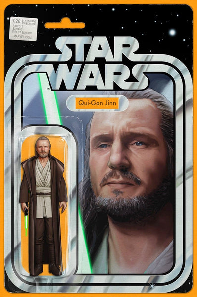 STAR WARS VOL 4 #26 QUI-GON JINN ACTION FIGURE VARIANT