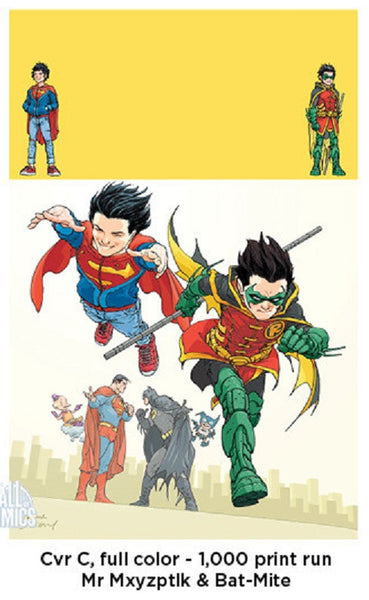 SUPER SONS #1 HALL OF COMICS FRANK QUIETLY 1000 PRINT VARIANT