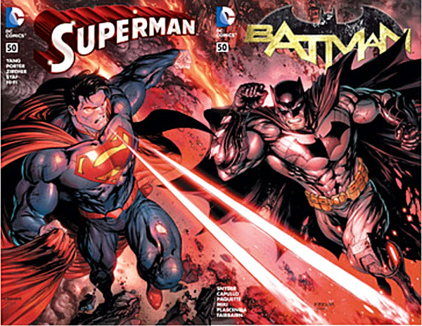 BATMAN #50 / SUPERMAN #50 HASTINGS CONNECTING VARIANT SET
