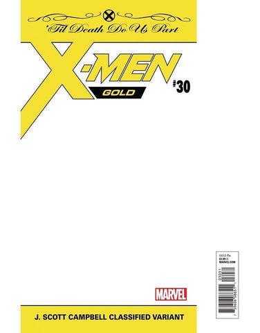 X-MEN GOLD #30 JSC CLASSIFIED WHITE PLOYBAGGED VAR