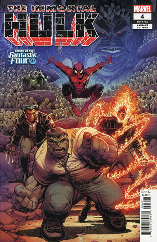 IMMORTAL HULK #4 ADAMS RETURN OF FANTASTIC FOUR VAR
