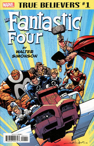 TRUE BELIEVERS FANTASTIC FOUR BY WALTER SIMONSON #1