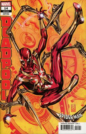 DEADPOOL #14 BROOKS SPIDER-MAN IRON SUIT VAR
