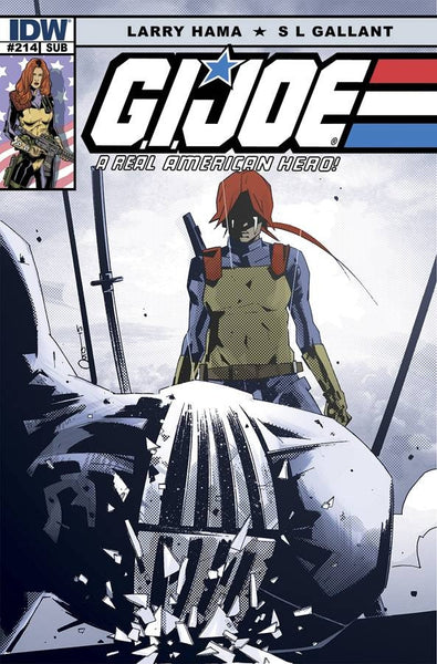 GI JOE A REAL AMERICAN HERO #214 SUBSCRIPTION VAR